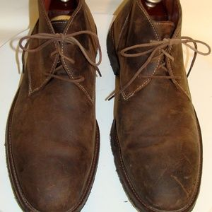 JOHNSTON & MURPHY BROWN LEATHER ANKLE BOOTS 12M